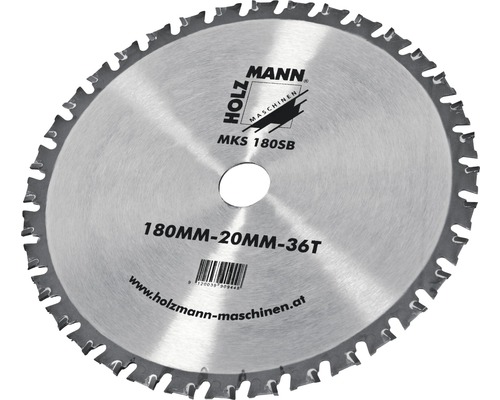 Lame de scie circulaire Ø 180x20 mm Holzmann MKS180SB-0