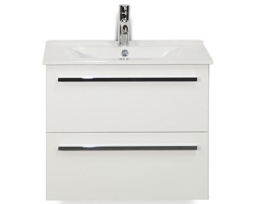Kit de meubles de salles de bain Seville 60x195cm blanc haute brillance