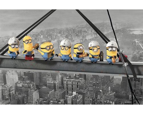 Poster Minions lunch on a skyscraper 61x91,5 cm