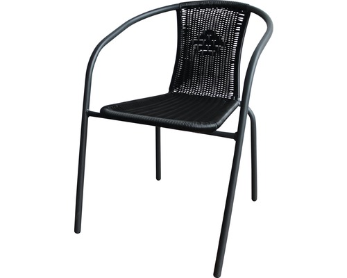 Chaise empilable Garden Place rotin acier anthracite