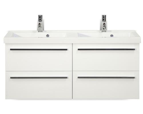 Kit de meubles de salles de bain Seville 120x195cm blanc haute brillance-0