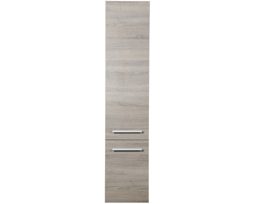 Meuble haut Stretto chêne gris 160 x 35cm, 2 portes-0