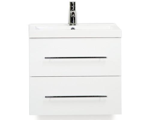 Kit de meubles de salles de bain Straight blanc haute brillance 60x195cm