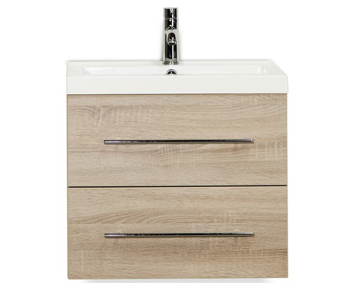 Kit de meubles de salles de bain Straight chêne gris 60x195cm