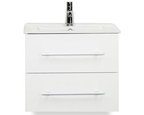 Kit de meubles de salles de bain Stretto blanc haute brillance 60x195cm