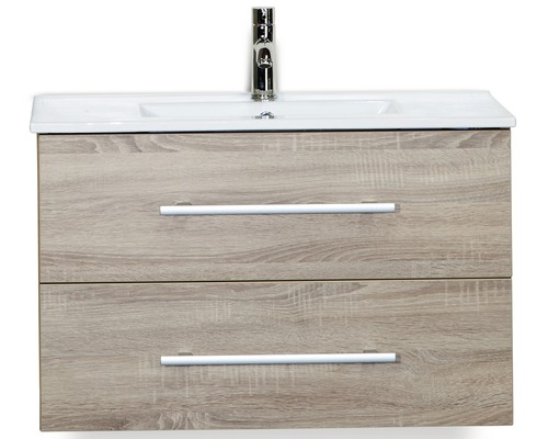 Kit de meubles de salles de bain Stretto chêne gris 80x195cm