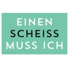 Aimant décoratif Einen Scheiss Muss Ich 5,5x8,5 cm-thumb-0