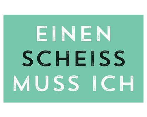 Aimant décoratif Einen Scheiss Muss Ich 5,5x8,5 cm-0