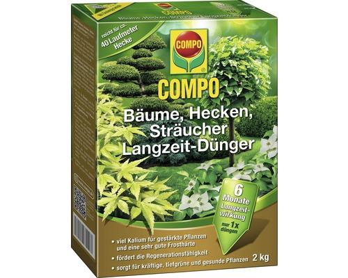 Engrais longue durée pour arbres, arbustes et haies Compo 2kg