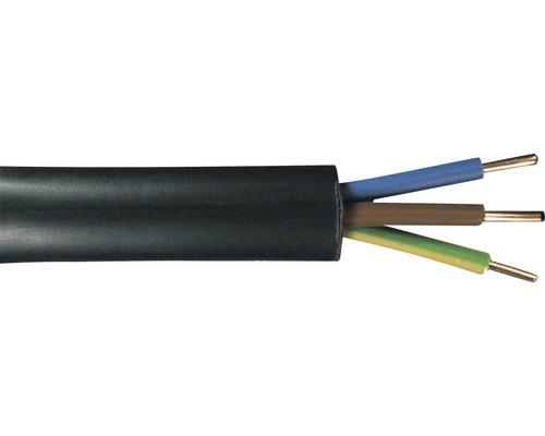 Câble souterrain NYY-J 3x2,5mm² 50m noir