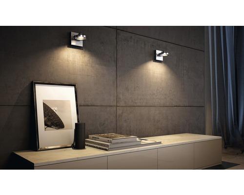Spot LED Spur 1x4.5W mat chromé-0