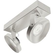 Spot LED Spur 2x4.5W mat chromé-thumb-3