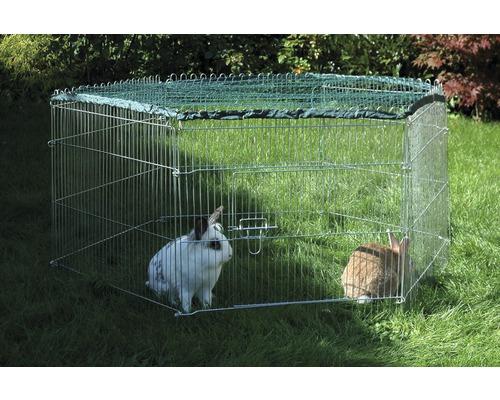 Enclos pour jeunes animaux avec filet de protection 123x106x60cm