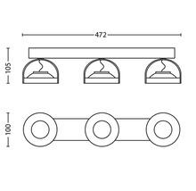 Spot LED Spur 3x4.5W mat chromé-thumb-6