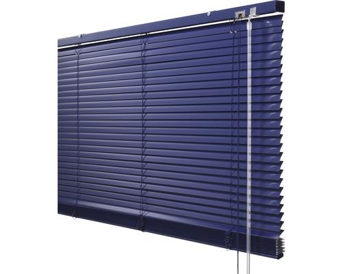 Store vénitien en alu Soluna DIM-OUT 90x240cm bleu, avec 20% de lamelles supplémentaires pour un meilleur obscurcissement
