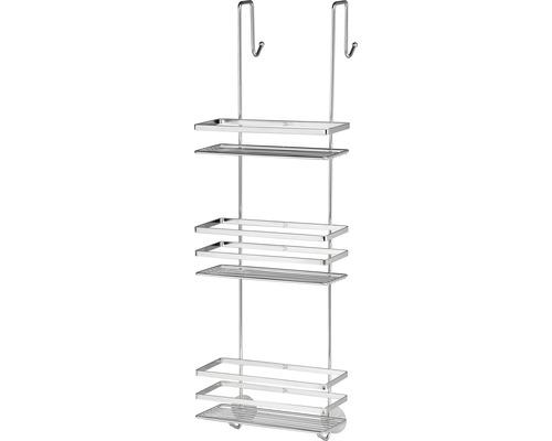 Étagère de douche Form&Style chrome à accrocher à une porte ou à une séparation de douche