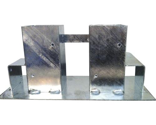 Aide d''empilage pour bois de cheminée, métal galvanisé à chaud