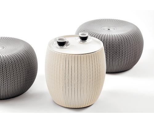 Gartenmöbel Set Cozy Urban Keter Kunststoff 2 Sitzer 3 Teilig Creme Taupe