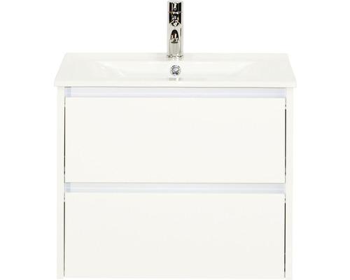 Ensemble de meubles de salle de bains Dante 61x52 cm blanc haute brillance