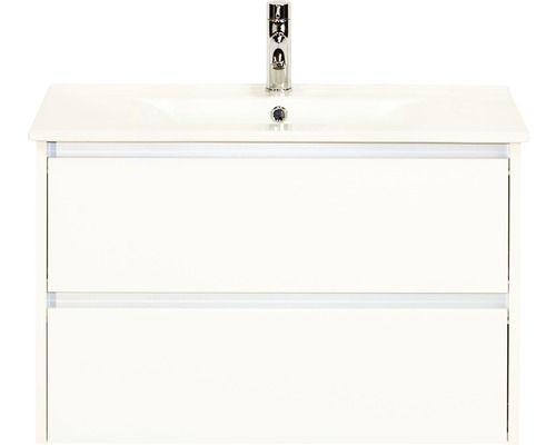 Ensemble de meubles de salle de bains Dante 81x52 cm blanc haute brillance