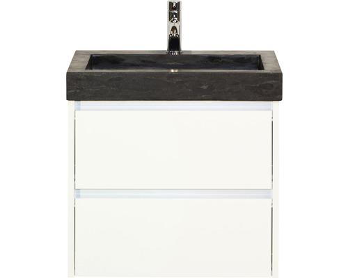 Ensemble de meubles de salle de bains Dante 61x58 cm blanc haute brillance