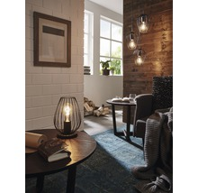 Lampe de table Newtown 1 ampoule noire H 230 mm-thumb-2