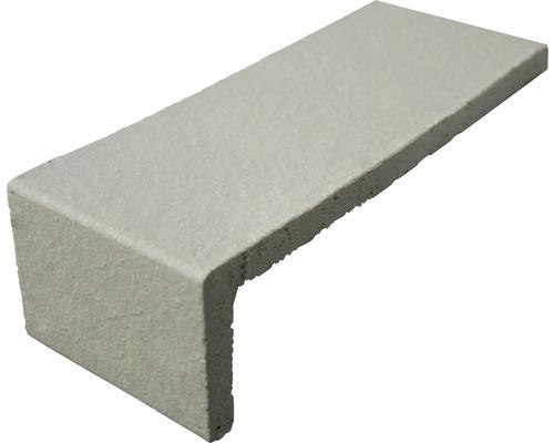 Listel d''angle gris blanc 17.7x7.1cm