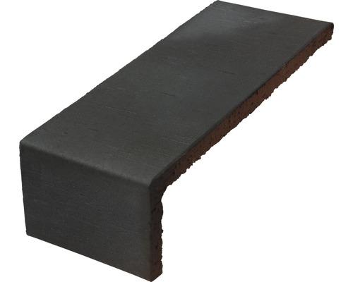 Listel d''angle noir platine 17.7x7.1cm-0