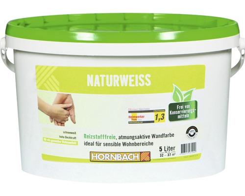 Wandfarbe Naturweiß konservierungsmittelfrei 5 l