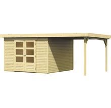 Abri de jardin Karibu Kodiak 6 en kit avec toit en appentis, 525x306b cm naturel-thumb-1