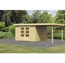 Abri de jardin Karibu Kodiak 6 en kit avec toit en appentis, 525x306b cm naturel-thumb-2