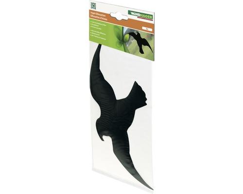 Épouvantail silhouette Windhager autocollant noir 3 pièces