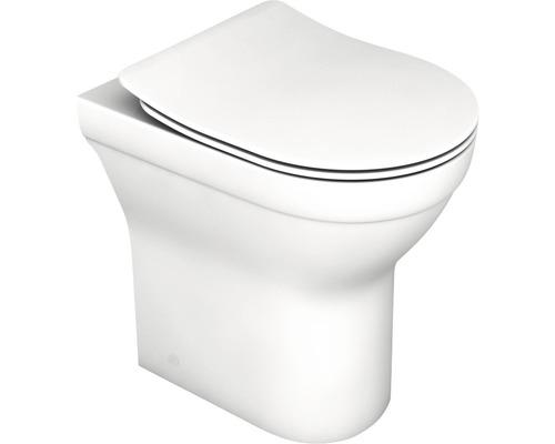 basano spülrandloses Stand-WC Perugia erhöht mit WC-Sitz weiß