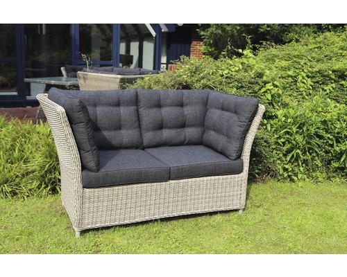 polyrattan sofa 2 sitzer grau. Black Bedroom Furniture Sets. Home Design Ideas