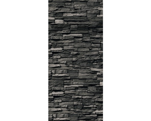 Duschrückwand Schulte Decodesign Dekor Stein Verblender anthrazit 100x210 cm
