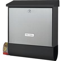 Boîte aux lettres Burg Wächter acier set London 68670 lxhxp 420/377/115 mm B & S acier inoxydable/noir avec boîte à journaux-thumb-1