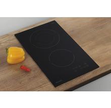 Plaque de cuisson à induction vitrocéramique PICCANTE largeur 30 cm avec 2 zones de cuisson-thumb-1