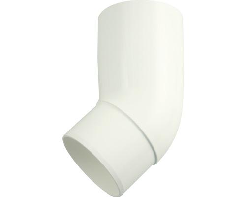 Coude pour tuyau de descente Marley plastique rond 45° degrés blanc de signalisation RAL 9016 DN 105 mm-0