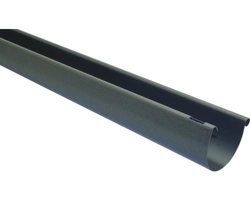 Gouttière semi-circulaire Marley diamètre nominal 75 anthracite métallique longueur: 3,00m