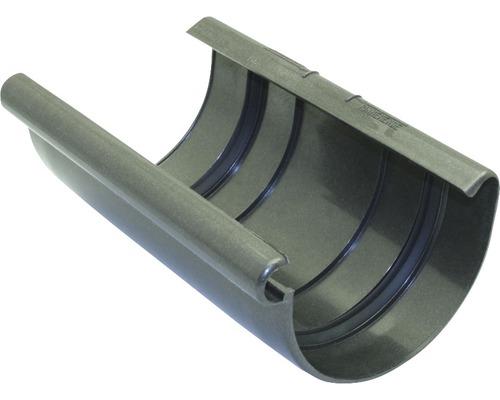 Coque de raccord de gouttière diamètre nominal 75mm anthracite métallique