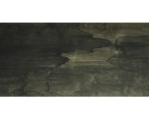Carrelage de sol en grès cérame fin Edgewood anthracite 45x90cm-0