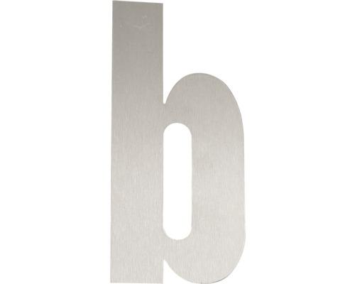 """Hausnummer Edelstahl satiniert """"b"""" 120 mm"""