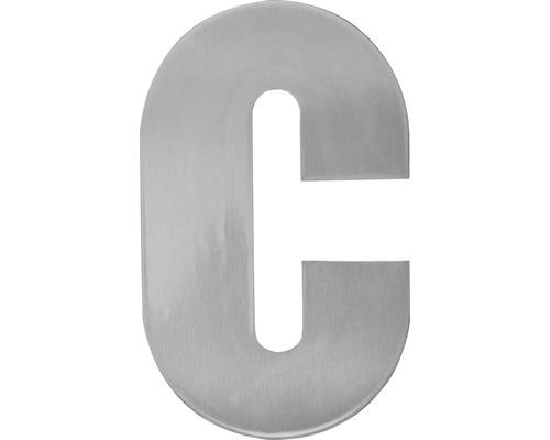 "Hausnummer Edelstahl satiniert ""c"" 120 mm"