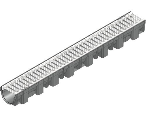 Rigole TOP X grille passerelle à fente galvanisé longueur: 1,00m