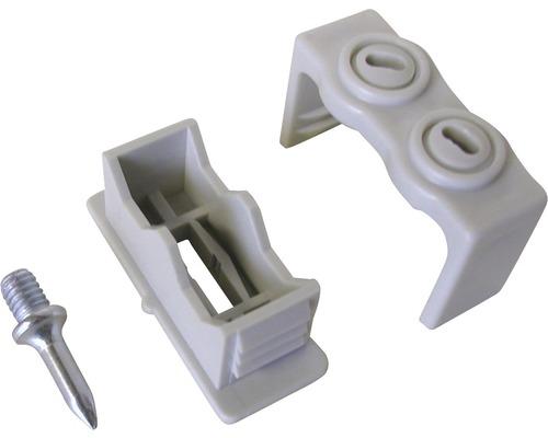 Colliers de fixation ISO double 6 - 16 mm gris 10 pièces
