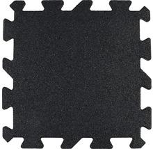 Dalle de protection anti-chute puzzle pièce intermédiaire 53,4x50x2,5cm noir-thumb-0