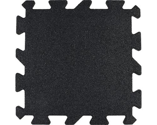 Dalle de protection anti-chute puzzle pièce intermédiaire 53,4x50x2,5cm noir-0