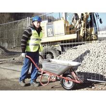 CAPITO Profi Tiefmuldenkarre EUROCAR 100 Liter Tiefmulde, Lufträder mit Blockprofil und Stahlfelge inkl. ergonomische Buchenholzgriffe-thumb-5