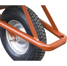CAPITO Profi Tiefmuldenkarre EUROCAR 100 Liter Tiefmulde, Lufträder mit Blockprofil und Stahlfelge inkl. ergonomische Buchenholzgriffe-thumb-3