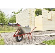 CAPITO Profi Tiefmuldenkarre EUROCAR 100 Liter Tiefmulde, Lufträder mit Blockprofil und Stahlfelge inkl. ergonomische Buchenholzgriffe-thumb-6